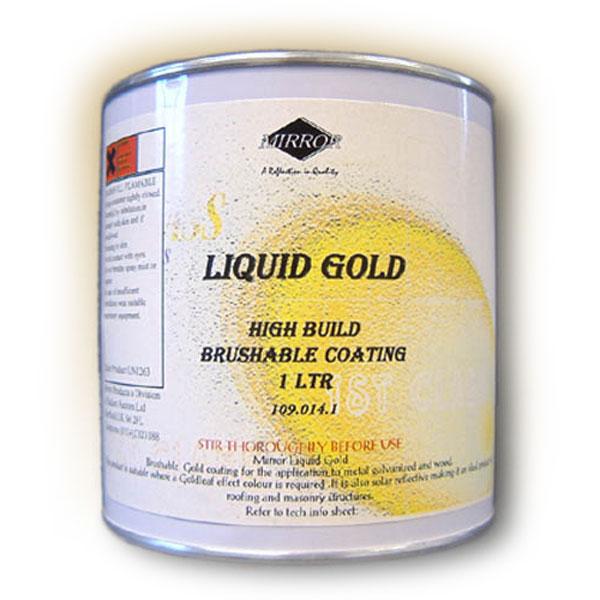 Mirror Liquid Gold Leaf (Brushable) Paint 1Lt
