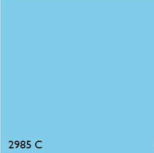 Pantone 2985c Light Blue Range